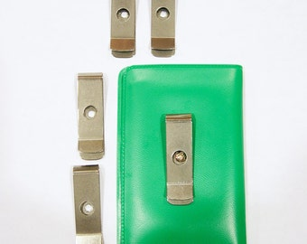 5 DIY Money Clips Belt Holster for wallets beads charms buttons crafts