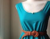 Jade Green Lace Detail Cotton Lace Detail Pearl Romantic Dress XS S M L XL