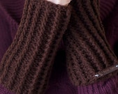 Chocolate Fingerless Gloves