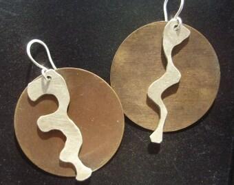 Silver Drips earrings
