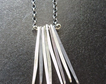 Black and White Fringe Necklace