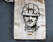 stash bag-gocco printed cotton muslin bag