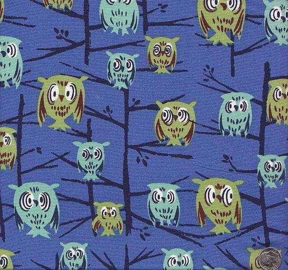 Tammis Keefe Tribute Owls on Blue