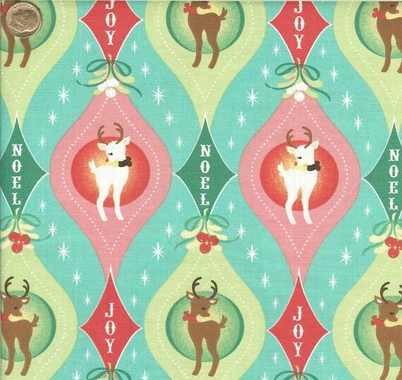 One Yard of Retro Reindeer Print by Sheri Berry