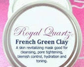 French Green Clay - For revitalizing your skin (cleansing, pore tightening, blemish control, toning, and hydrating)