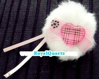 Princess Charm Ring . Royal Quartz