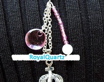 Small Crown Keychain . Royal Quartz