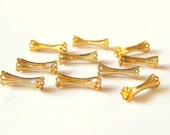 Sale! - Fancy Gold Plated Tubular Findings