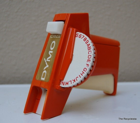 DYMO Label Maker 1780 Vintage Orange By TheRecycleista On Etsy
