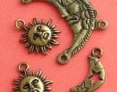 Moon and Sun Charms