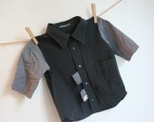 father to son, recycled button up kid's shirt, 3 years