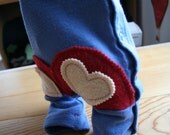 RESERVED for lollybug- Custom Made to Order, 2 Hearts on a Bum, 12 months, Olive Cashmere