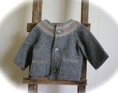 Felted Wool Cardigan, 12-24 months