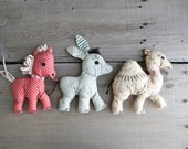 1940s handmade toys, set of three