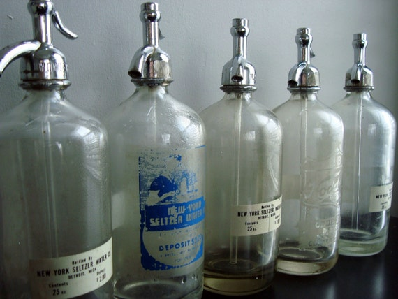 beautiful bubbles. seltzer bottles, your choice.