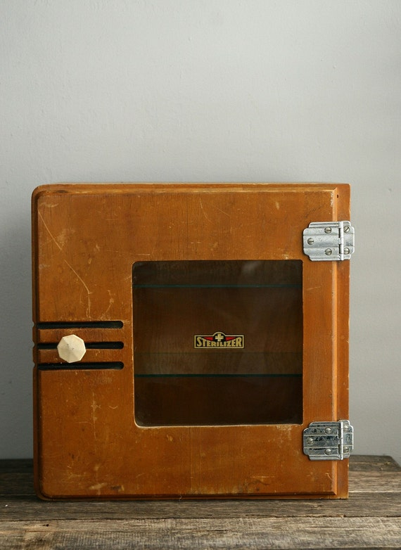 antique sterilizer medical cabinet