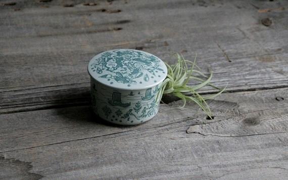 danish modern lidded bowl