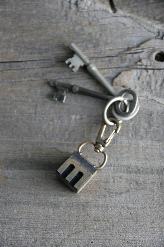 letterpress keychain - pick a letter