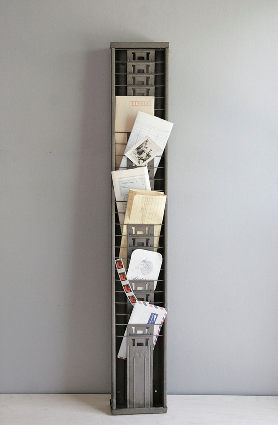 industrial time card rack