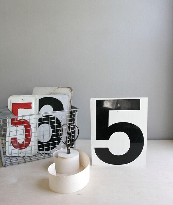 metal gas station number / industrial decor