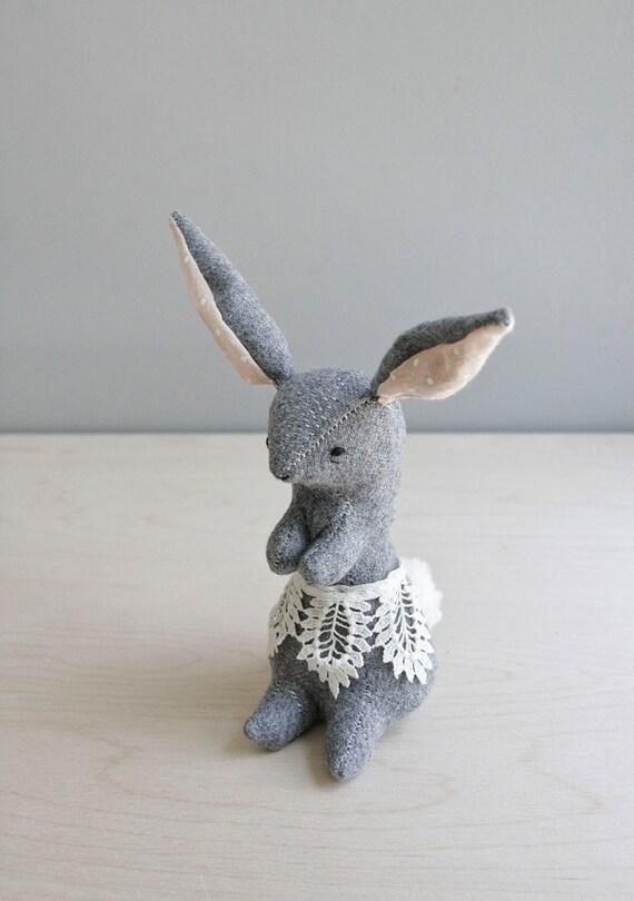 RESERVED. a proper rabbit / soft sculpture animal