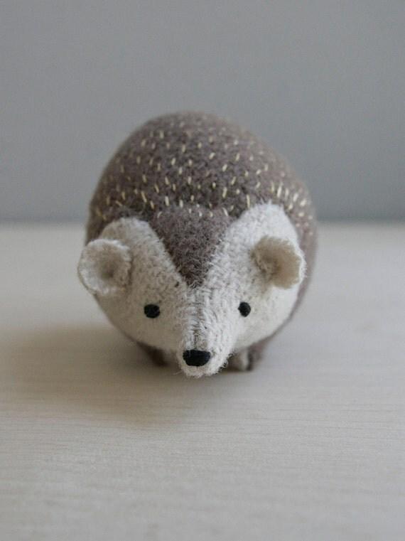 RESERVED / hedgehog / soft sculpture animal