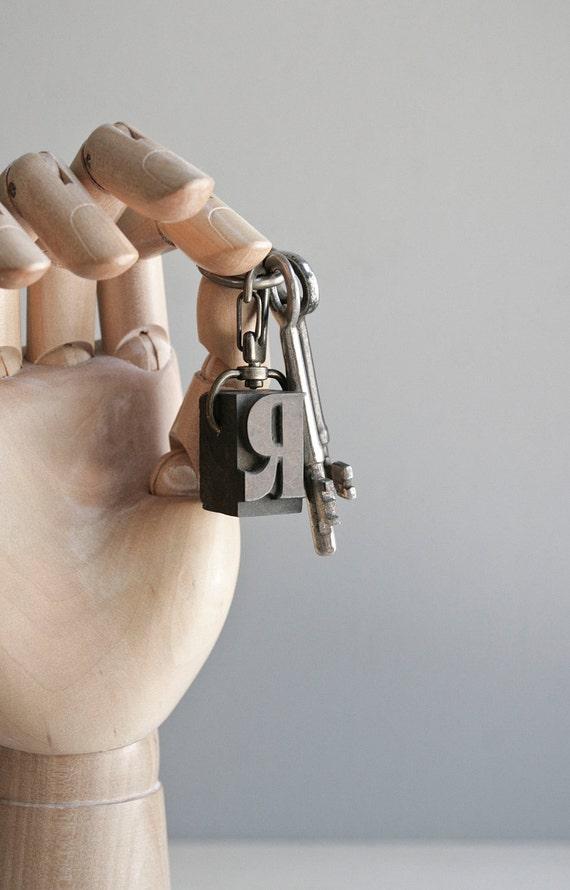 letterpress keychain / pick a letter