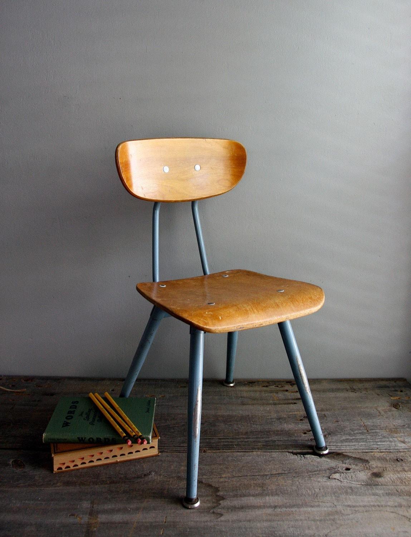 Wooden School Chair ~ Classic wood school chair