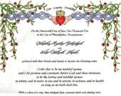 Celtic - Quaker Marriage Certificate