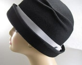 Wool Felt Hat with Double Pleat