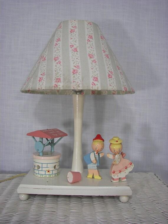 Vintage Irmi Lamp Jack and Jill