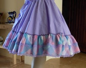 Vintage Lilac Lolita Square Dance Full Circle Skirt - RESERVED FOR compassionkawaii
