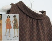 Mod Aline Tent Mini 1960's Womens Knit Sleeveless Dress Made From Vintage Pattern Size Medium