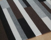 Handwoven Icelandic Wool Rug 36 1\/2 x 51 Wool Warp, Natural Sheep Colors