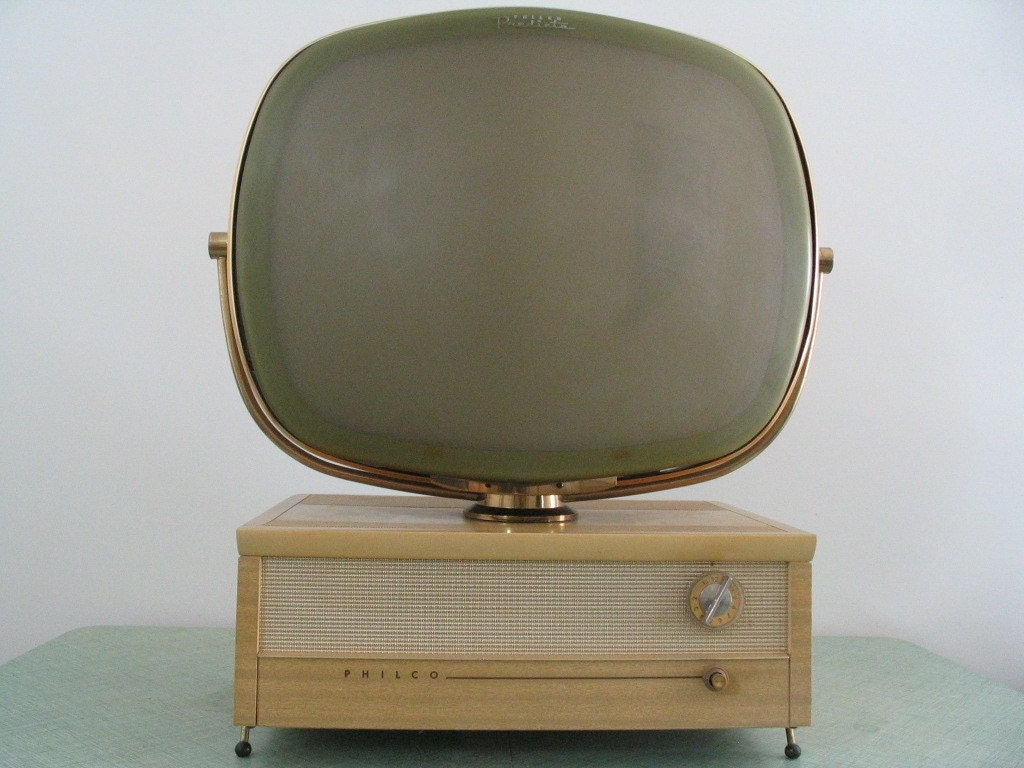 philco predicta tv 1950s model 4242 vintage television