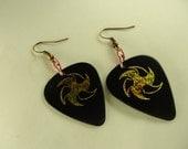 Sun Fashion Guitar Pick Earrings