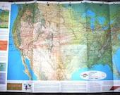 Vintage 60's UNITED AIR LINES Air Atlas Mileage Map, Travel, Rare find, Pan Am, Mad Men era