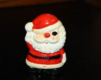 Vintage Christmas Santa Claus, Salt Shaker,Japan, wdw Japan, Cute vintage 1950s , Santa Claus Salt Shaker.plastic stopper.SALE was 8 now 4