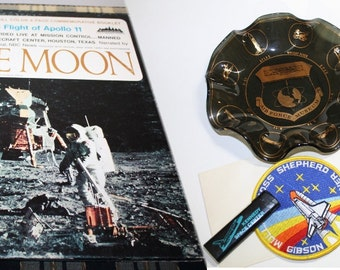 Vintage Space Exploration Collectors LRG Lot, 1960's,1970s,1980s, Man On The Moon to Space Shuttle Atlantis, Collector or Man CAVE Gift