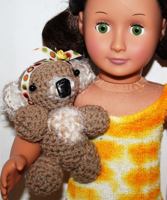 """ON Sale ,American Girl Doll Pet KOLA Bear, she can hold, carry, animal friend, , for 18"""" dolls, made by ZzDesigns"""