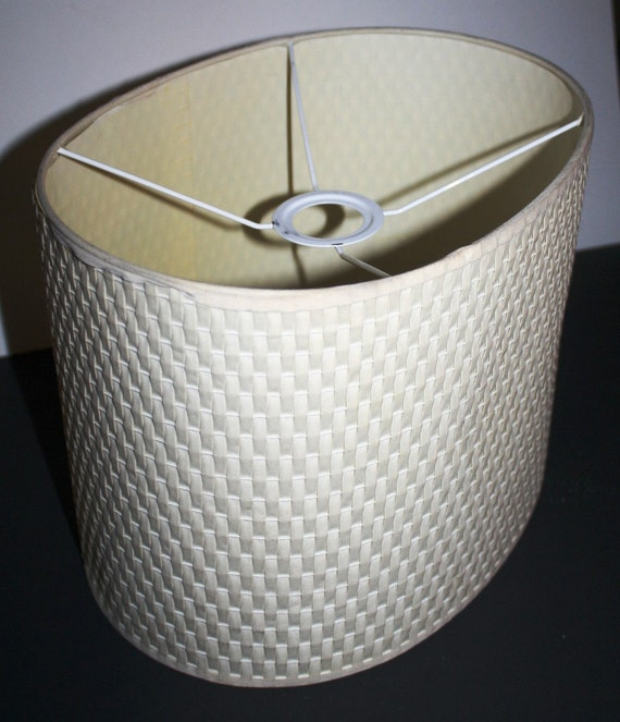 Woven Basket Lamp Shade : Off sale oval drum lampshade white basket weave woven