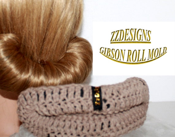 Gibson Hair Roll Mold ,Hair tool that creates a hair roll for lasting results with your Snood,Chignon  Fashioned  2012 Hair Fashion