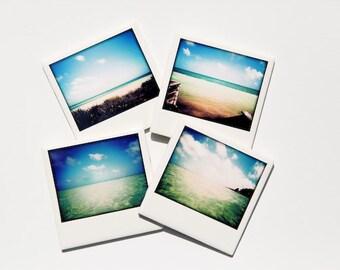 Ocean Sea Beach Coasters (Ceramic Set of 4) Summer, Florida Keys, Tropical Home Decor, Salt Life