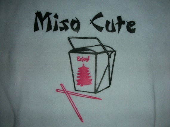 Miso Cute Baby Onesie Gender Neutral - YOU PICK The SIZE