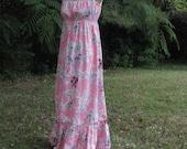 HILO HATTIE Hibiscus Love Hawaiian Maxi Dress