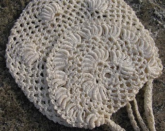 Antique Early 1900s Victorian Hand Crocheted Purse