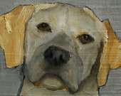 8 x 10  YELLOW LAB -  Giclee print from my original oil painting - DOG Art
