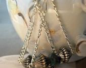 Urban Tribal Malachite Dangle Earrings