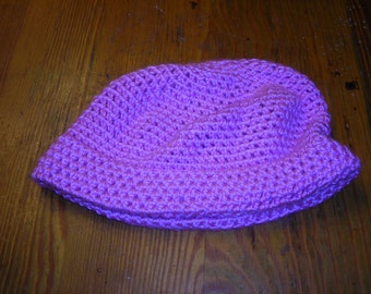 pink crocheted hat