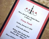 Beautiful Chandelier with Roses Invitations/Announcement